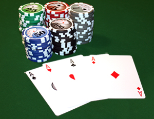 poker cards, poker chips