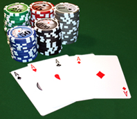 four aces in poker play